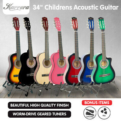 AU59 • Buy New Karrera Childrens Acoustic Cutaway  Wooden Guitar Ideal Kids Gift 1/2 Size