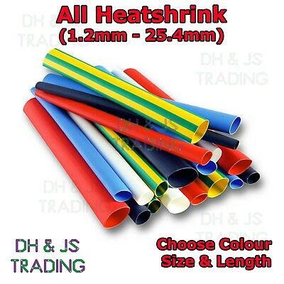 2:1 Heat Shrink Tubing Electrical Sleeving Cable/Wire Heatshrink Tube All Colour • 1.19£