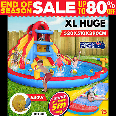 View Details Inflatable Water Double Slide Large Jumping Castle Pool  • 690.00AU