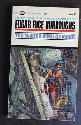 $4.99 • Buy EDGAR RICE BURROUGHS BALLANTINE U2036 MASTER MIND OF MARS JOHN CARTER VG+ 1st