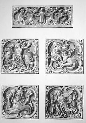£31.50 • Buy FRANCE Rouen Cathedral Medieval Cartouches Dragons Etc  - SUPERB 1843  Print