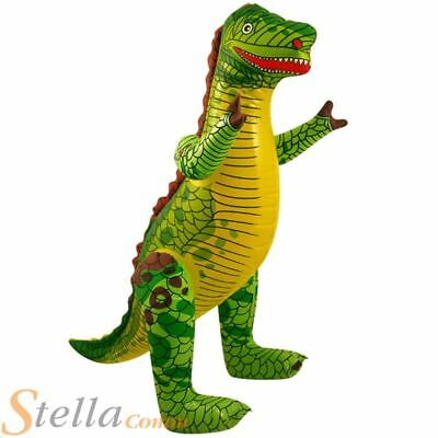 £3.49 • Buy 76cm Inflatable Dinosaur Dino Pool Party Holiday Beach Party Kids Toy