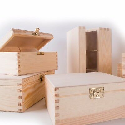 £7.69 • Buy SELECTION Of 150 Small&Medium Wooden Boxes/Memory Chest Crate/Craft Storage Box