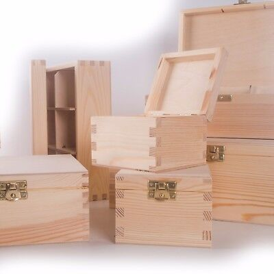 £8.89 • Buy CHOICE Of 100 Small & Medium Wooden Storage Boxes / Memory Keepsake Chest Box