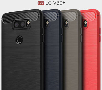 AU11.99 • Buy LG V30 Plus Case, Carbon Fiber Shock Resist Brushed Texture Soft TPU Case For LG