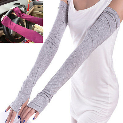AU3.99 • Buy Soft Stretchy Long Sleeve Fingerless Gloves Cashmere Arm Warmers Sleeves Hi