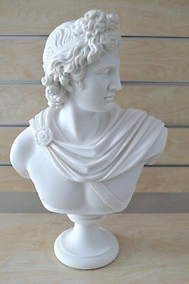 God Apollo X-Large Bust Sculpture Ancient Greek God Of Sun And Poetry Statue • 229£