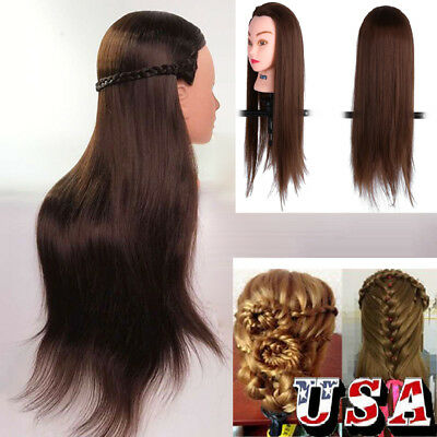$24.26 • Buy 24/ 26 Cosmetology Hair Hairdressing Training Head Mannequin With Clamp Holder