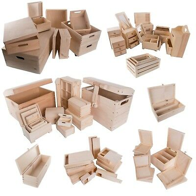 Selection Of 100 Large & XL Wooden Storage Boxes / Wood Trunk Chest Crate Box • 11.89£