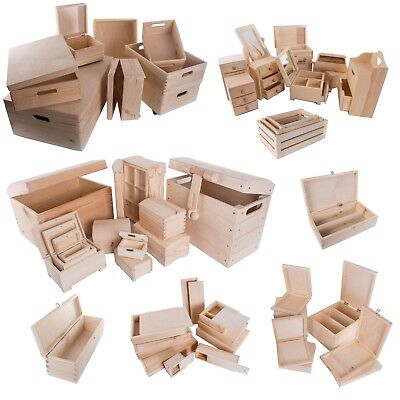 Selection Of 100 Large & XL Wooden Storage Boxes / Wood Trunk Chest Crate Box • 11.85£
