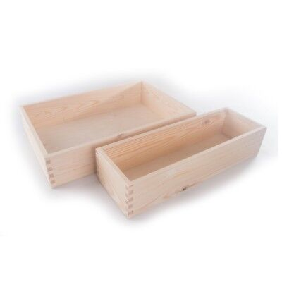 Wooden Non-Lidded Display Open Top Presentation Container Box / Pinewood DIY  • 11.69£