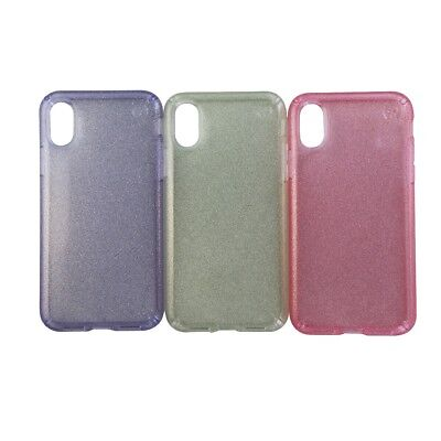 AU14.24 • Buy Speck Presidio Clear Glitter Case 3 Pack For IPhone X 10 - Pink Gold And Purple