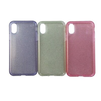 AU12.97 • Buy Speck Presidio Clear Glitter Case 3 Pack For IPhone Xs/X - Pink Gold And Purple