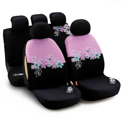 $29.99 • Buy Car Seat Covers For Women Airbag Compatible Pink Flower Car Accessories Interior
