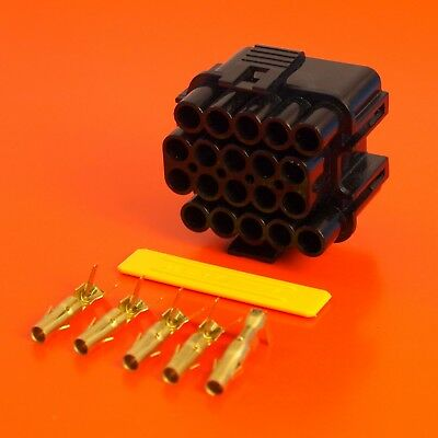 £24.95 • Buy Lucas Rists 20 Way Black Receptacle TTS Series Electrical Wiring Connector Kit