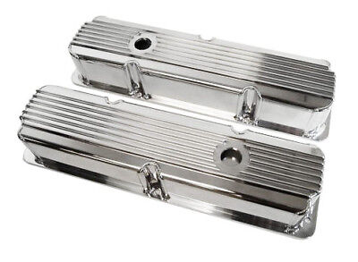 $199.99 • Buy Ford FE Polished Finned Fabricated Valve Covers 352 360 390 406 427 428