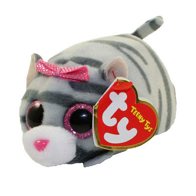 $ CDN10.07 • Buy TY Beanie Boos Teeny Tys 4  CASSIE The Grey Cat Stackable Plush Animal Toy MWMTs