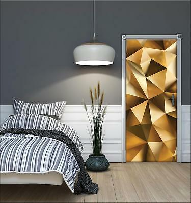 Door Mural Photo Sticker Non-woven 10223_VET Abstraction Gold Abstraction Patter • 28.90£