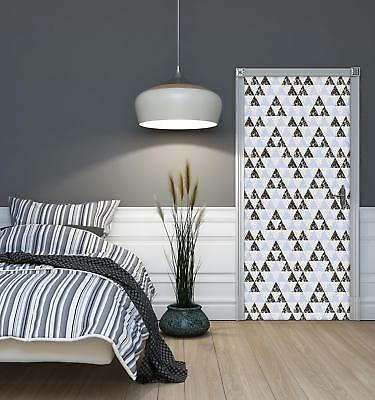 Door Mural Photo Sticker Non-woven 10740_VET Triangles Mosaic Abstract Geometry • 28.90£