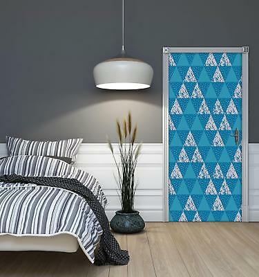 Door Mural Photo Sticker Non-woven 10742_VET Triangles Mosaic Abstract Geometry • 28.90£