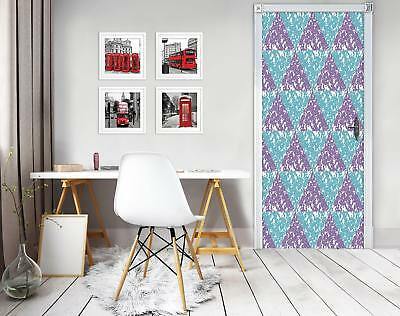 Door Mural Photo Sticker Non-woven 10744_VET Triangles Mosaic Abstract Geometry • 28.90£