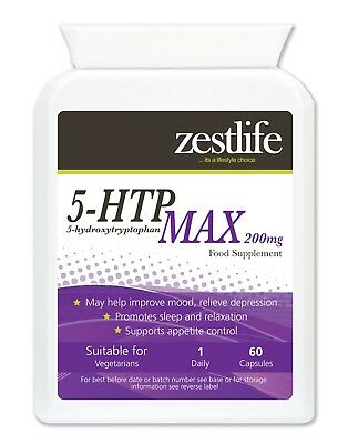 $ CDN12.75 • Buy Zestlife 5HTP MAX 200mg Serotonin For Mood, Mild Anxiety,sleep Patterns, Memory