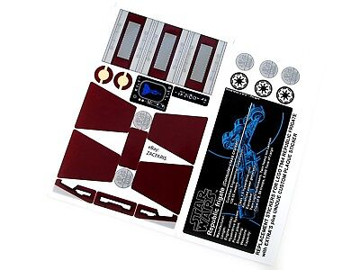 STICKERS For STAR WARS, LEGO 7964 Republic Frigate Bonus Plaque Sticker & Extras • 4.52£