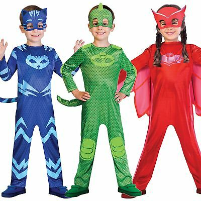Boys Girls PJ Masks Costumes Official Childrens Superhero Fancy Dress Outfit • 15.50£