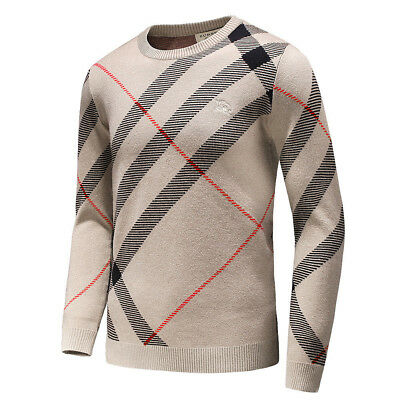 $99.99 • Buy Burberry~Men's ,Classical Sweater, Sizes: M, Color - Beige