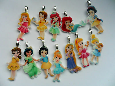 Cute Disney PRINCESS  Necklace's 12 To Choose From  Free UK Postage • 2.69£