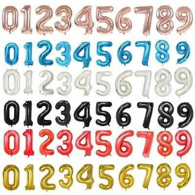 AU4.10 • Buy Foil Number Birthday Number Balloons Party Different Colours & Sizes Melb Seller