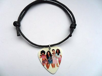 LITTLE MIX  Guitar Pick  Waxed Cord  Adjustable Bracelet  Ten To Choose • 2.99£