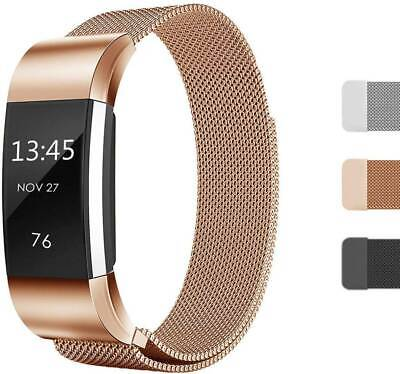 AU7.09 • Buy For Fitbit Charge 2 Band Metal Stainless Steel Milanese Loop Wristband Strap