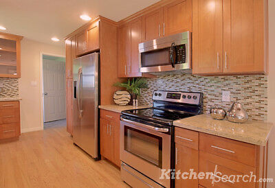 $1549 • Buy All Wood KITCHEN CABINETS 10x10 RTA Toffee Shaker