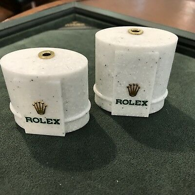2 X Rolex Original Dealer Display Watch Stands Marble Medium & Large • 110.16£