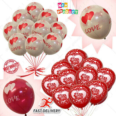 10-100 I Love You Balloons Valentines Day Romantic Baloons His/Her Gifts WEDDING • 1.99£