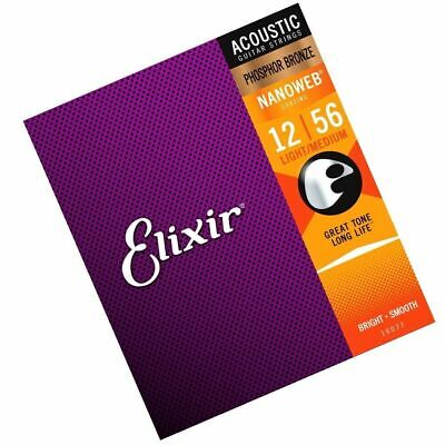 $ CDN31.94 • Buy Elixir Phosphor Bronze Nanoweb HD Light Acoustic Guitar Strings 13 - 53 16182new
