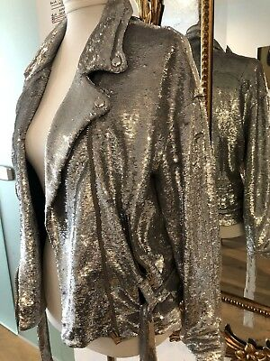$ CDN527.98 • Buy IRO Festive Mind Blowing Silver Sequins Jacket