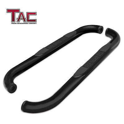 $119.99 • Buy For 1995-2004 Toyota Tacoma Extended Cab 3  Black Side Step Rails Nerf Bars