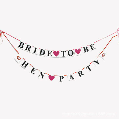 £2.99 • Buy Bride To Be Bridal Shower Banner Bunting Hen Night Party Decoration