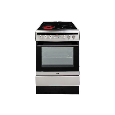 £319.97 • Buy Amica 60cm Single Fan Oven Electric Cooker With Ceramic Hob - Stainless Steel