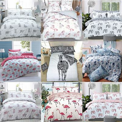 Luxury Animal Print Design Duvet Set Quilt Cover Bedding Single Double King Size • 12.99£