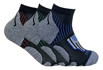 3 Pack Mens Breathable Cushioned Low Cut Quarter Athletic Sports Cycling Socks • 8.30£