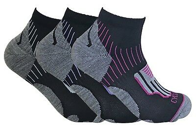 3 Pack Ladies Breathable Cushioned Heel / Toe Low Cut Ankle Sports Cycling Socks • 8.30£
