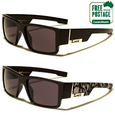 AU19.95 • Buy Locs Sunglasses - Men's Flat Top Frame Square Lens - Free Shipping In Australia