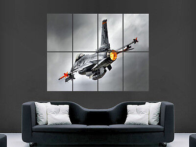 £17.99 • Buy F16 Military Fighter Jet Aeroplane  Giant Wall Poster Art Picture Print Large