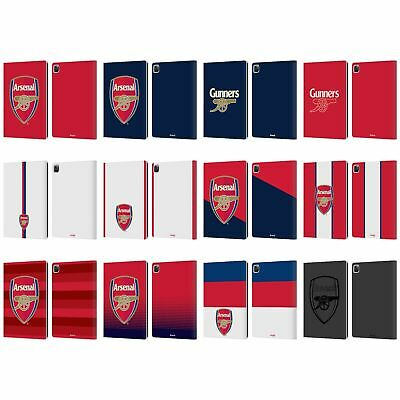 OFFICIAL ARSENAL FC CREST 2 LEATHER BOOK WALLET CASE COVER FOR APPLE IPAD • 22.95£
