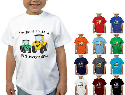 I'm Going To Be A Big Brother T-shirt Tractor Childrens Kids T Shirt Fun Gift D2 • 9.25£