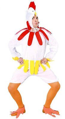 Mens Silly Chicken Hen Costume Stag Night Bird Farm Fancy Dress Outfit NEW 38-40 • 16.99£