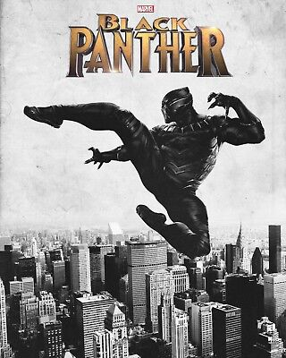 Marvel Black Panther - Comic Book Superhero Film Wall Art Canvas Pictures • 36.99£